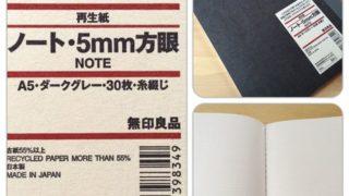 無印良品の再生紙ノートにアイデアを書き込んでいます☆ステッカーでカスタマイズ自由自在!