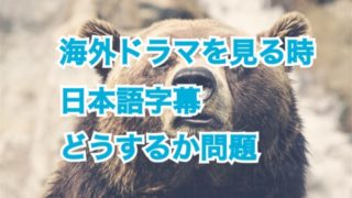 海外ドラマを見るとき日本語字幕どうするか問題