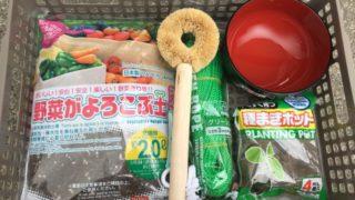 家庭菜園デビュー1年目!100円ショップで買った野菜づくり用のアイテムを紹介します☆