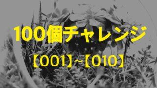 100個チャレンジ【001、布団一式】〜【010、コンタクトレンズ】