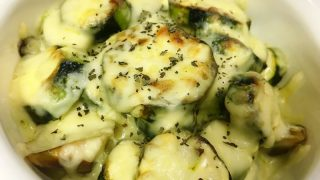 【家庭菜園簡単レシピ】立派なズッキーニが採れたので、マヨチーズ焼きを作ってみた話